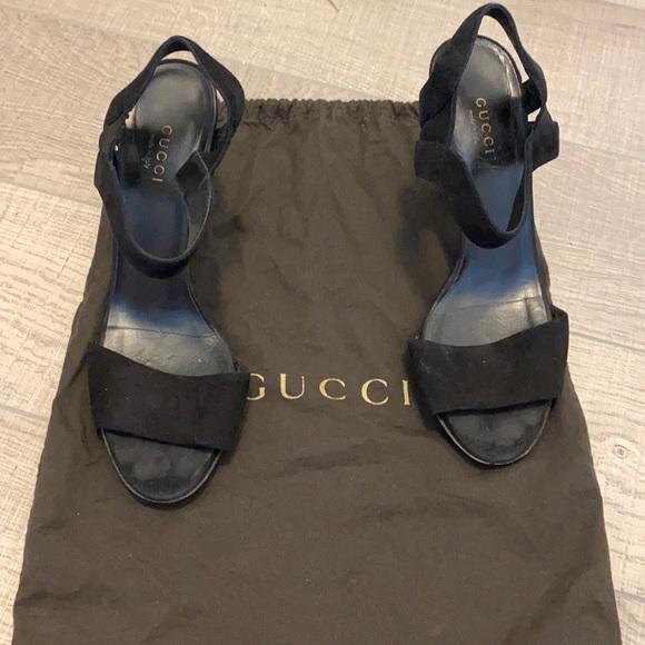 GUCCI cone heels sandas